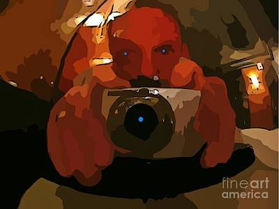 Blue Hues - Graphic Self Portrait of Halifax Photographer John Malone by Halifax Photographer John Malone