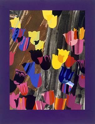 Tulip Drawing - Graphic Wallpaper Print, Design by Edouard Benedictus