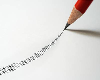 Graphite Photograph - Graphite Pencil And Graphene by Robert Brook