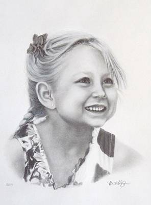Drawing - Graphite Portrait Drawing by Michelle Harrington
