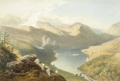 Lake Drawing - Grasmere From Langdale Fell, From The by James Baker Pyne