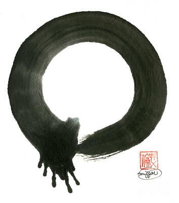 Mu-shin Painting - Grasping Life Enso by Ellen Miffitt