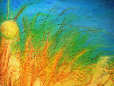 River Scenes Mixed Media - Grass Along The River by Lenore Senior