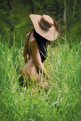 Tall Nude Woman Photograph - Grass by Naman Imagery