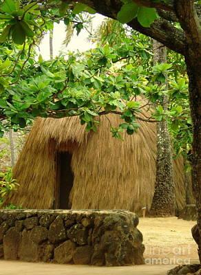 Photograph - Grass Hut by Rachel Munoz Striggow