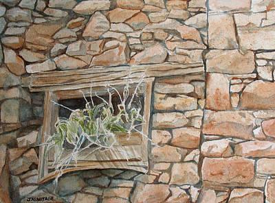 Grass In The Window Original by Jenny Armitage