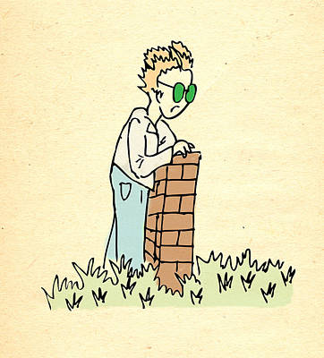 Parable Drawing - Grass Is Greener On The Other Side by