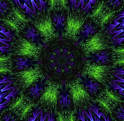 Grass Views Kaleidoscope Art Print