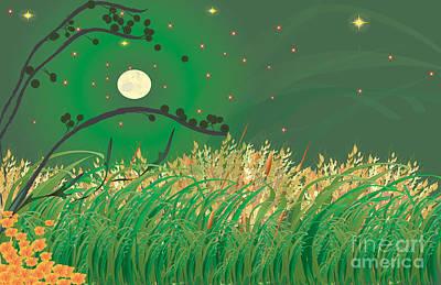 Grasses In The Wind Art Print