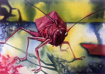 Wall Art - Painting - Grasshoper by Zuzana Vass