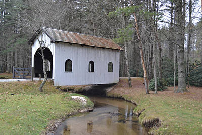 Photograph - Grassy Camp Creek Covered Bridge by rd Erickson