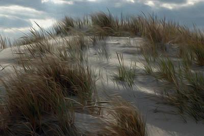 Art Print featuring the digital art Grassy Dunes by Kelvin Booker