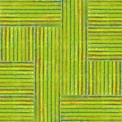 Painting - Grassy Green Stripes by Michelle Calkins