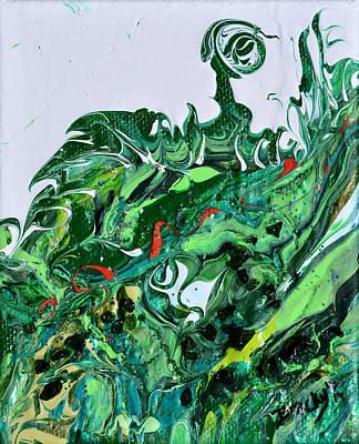 Mixed Media - Grassy Knoll by Donna Blackhall