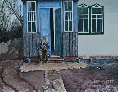 Grate Painting - Great Grandfather by Kateryna Kurylo