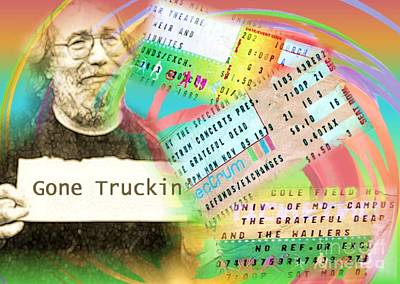 Photograph - Grateful Dead - Gone Truckin' by Polly Peacock
