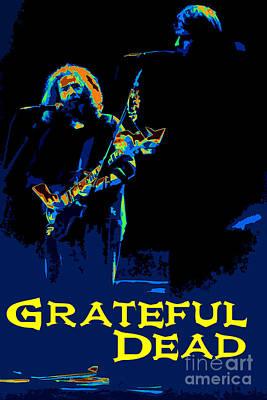 Grateful Dead - In Concert Art Print by Susan Carella