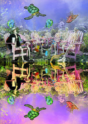 Fantasy Mixed Media - Grateful Get Together by Betsy Knapp