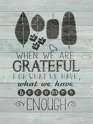 Gratitude Painting - Grateful by Jo Moulton