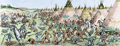 U.s Army Drawing - Grattan Massacre, 1854 by Granger