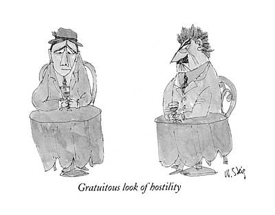 Corn Drawing - Gratuitous Look Of Hostility by William Steig