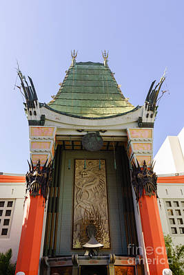 Graumans Chinese Theatre Photograph - Grauman's Chinese Theatre In Hollywood California by Paul Velgos