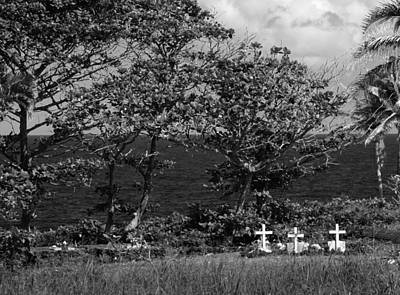 Photograph - Grave Crosses Overlooking The Ocean by John Orsbun