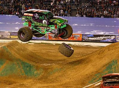 Art Print featuring the photograph Grave Digger Loses A Wheel by Nathan Rupert
