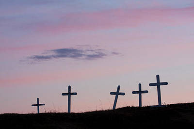 Marker Wall Art - Photograph - Grave Markers, Seward Peninsula, Alaska by Ken Archer