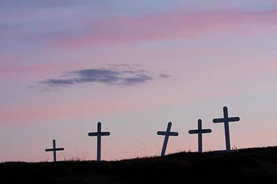 Grave Photograph - Grave Markers, Seward Peninsula, Alaska by Ken Archer