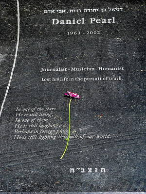 The Wall Street Journal Photograph - Grave Of Daniel Pearl by Jeff Lowe