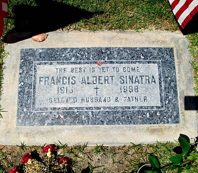Photograph - Grave Of Frank Sinatra 1 by Randall Weidner