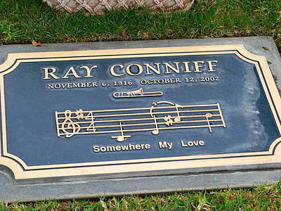 Photograph - Grave Of Ray Conniff  by Jeff Lowe