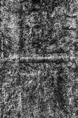 Grave Stone Skull Art Print