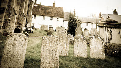 Warped Photograph - Grave Yard by Tom Gowanlock