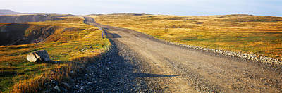 Gravel Roads Photograph - Gravel Road Passing by Panoramic Images
