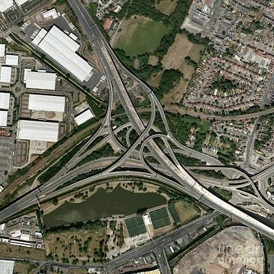 Gravelly Hill Interchange, Aerial View Art Print by Getmapping Plc