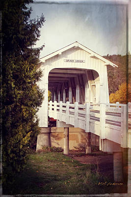 Photograph - Grave Creek Covered Bridge by Mick Anderson