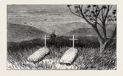 Cotter Drawing - Graves Of Lieut. Scott Douglas And Corporal Cotter by English School