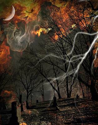 Photograph - Graves On Fire by Lora Mercado
