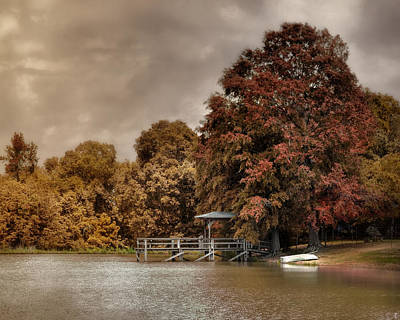 Autumn Scene Photograph - Graves Pond In Autumn by Jai Johnson