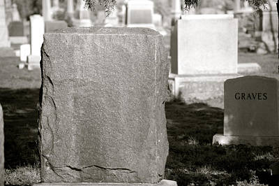 Photograph - Graves by Sherlyn Morefield Gregg