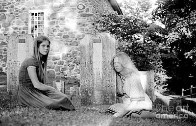 Photograph - Graveside Girls 1979 by Ed Weidman