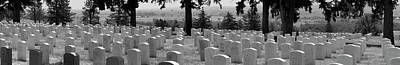 Gravestone At The Military Cemetery Art Print by Panoramic Images