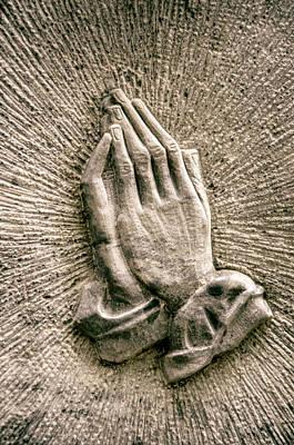 Gravestone Hands Print by Mr Doomits