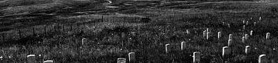 Gravestones On Last Stand Hill Art Print by Panoramic Images