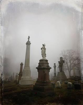 Graveyard Digital Art - Graveyard Morning by Gothicolors Donna Snyder
