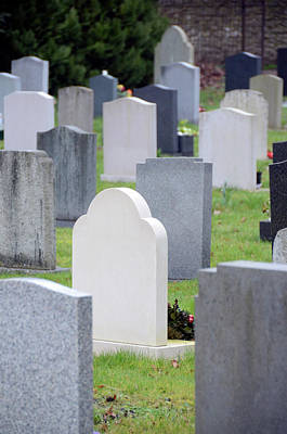 Grave Yards Photograph - Graveyard by Public Health England