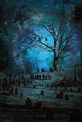 Graveyard Digital Art - Graveyard by Rick Mosher