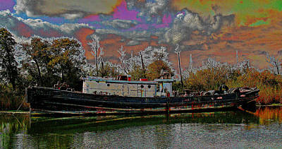 Photograph - Graveyard Shift 4 This Tug by Joseph Coulombe